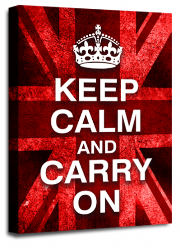 Keep Calm Carry On Red White Wall Art British Flag
